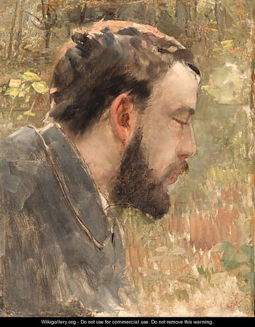 Cross: portrait of Georges Seurat.