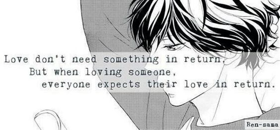 Ao Haru Ride | Kou | Love don't need something in return, but when loving someone, everyone expects their love in return | This quote I feel would suit Touma more than Kou | Not my edit, credits to Ren sama|