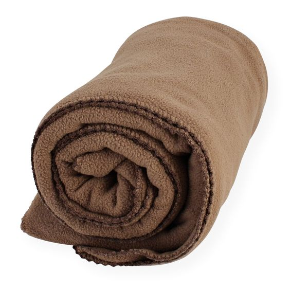 Große Baby Decke aus hochwertigen Mikro-Fleece 75*140 cm braun #decke #baby #fleece