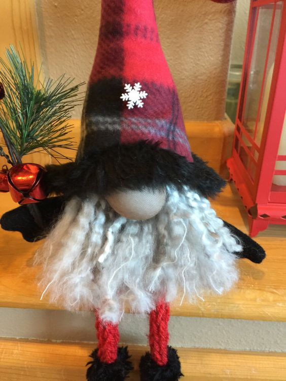Hand made Christmas gnome or elf by HeidisGnomes on Etsy