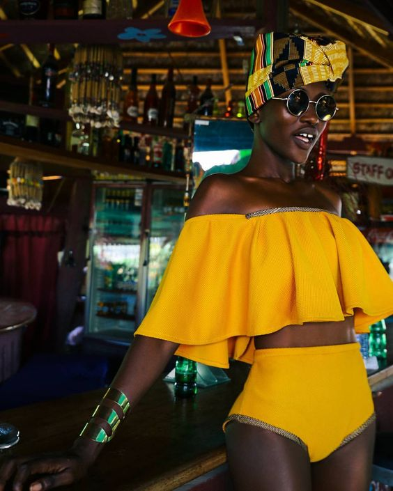 """Magdalene Williams on Instagram: """"The fusion of Vintage American and Contemporary African Vibes. Vintage Afro-Queen Project by @zay.vier Designer:@mimmy.yeboah"""