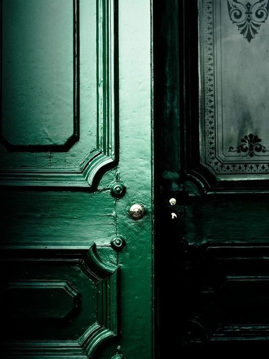 Jewel Toned Walls, green door