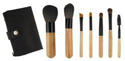 Mini Sable Makeup Brush Set by The Brush Company. $15.00. Leatherine snap case. This Black Sable Makeup brush set makes a Brush set for all your basic makeup needs. These brushes are made with all natural black sable bristles each designed for a specific use. This brush set includes a nice snap case to keep your brushes protected when not in use.