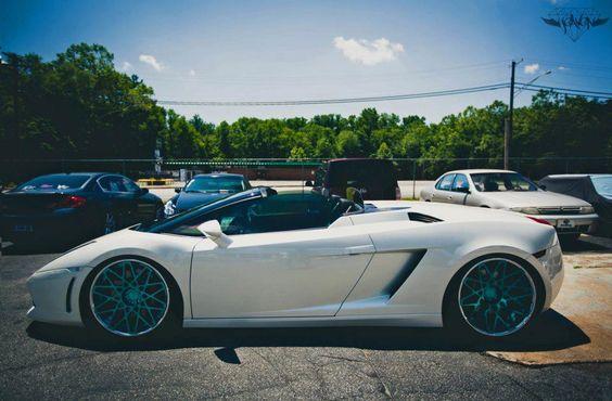 Lamborghini Gallardo + Rotiform BLQ superconcave| blue anodized center.... hotnessssss