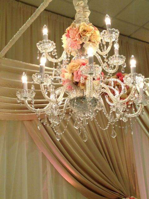 No detail is too small for us to care - check out this chandelier for one of our recent weddings!
