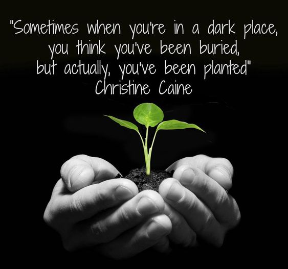 """""""Sometimes when you're in a dark place, you think you've been buried, but actually, you've been planted""""--Christine Caine #MotivationMonday #beawesome #Doorways"""