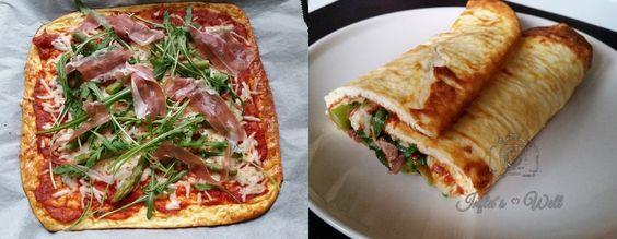 #LowCarb #Pizza / #Wrap #Rezept für den Sommer mit Rucola, Parmaschinken und grünem Spargel