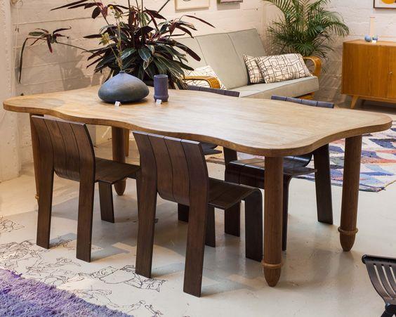 Handgemaakte Bamboe tafel