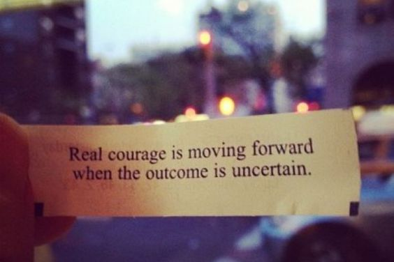 Real courage is...