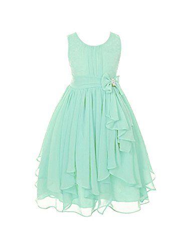 DressForLess Yoryu Chiffon Asymmetric Ruffled Flower Girl Dress ...
