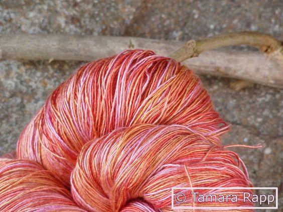 Abendweise - handgefärbtes Seidenlacegarn - ein Designerstück von HerzKoenigin bei DaWanda