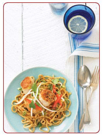 Seared Scallops With Udon Noodles | Natural Solutions