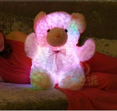 This teddy bear that cuddles you and scares the monsters away:
