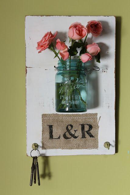 Panel de pared con florero y porta llaves ideas para el hogar pinterest de poca deco y - Porta llaves pared ...