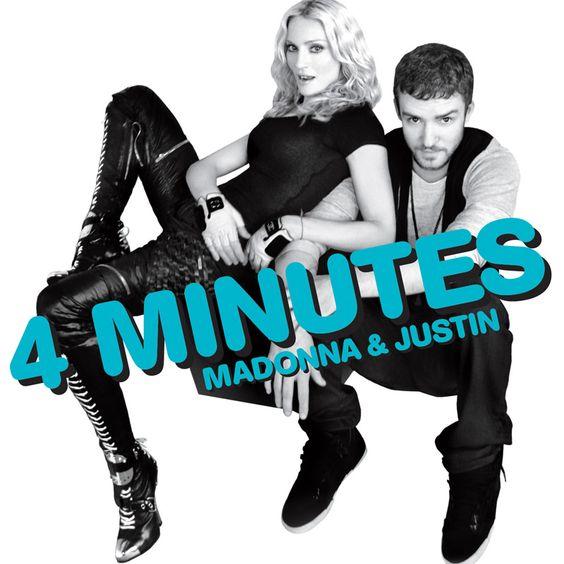 Madonna, Justin Timberlake, Timbaland – 4 Minutes (single cover art)