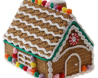 crer une maison de pain dpice chri entirement au crochet amusant faire - Decoration De Maison Pdf
