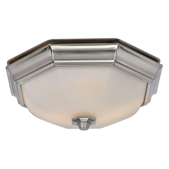 Hampton Bay Quiet Decorative 80 CFM 2 Sone Bathroom Exhaust Fan ...