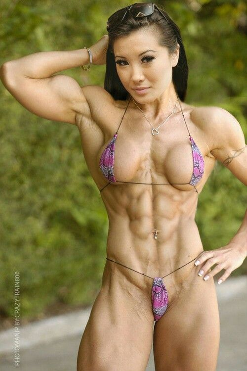 female sex Asian bodybuilder