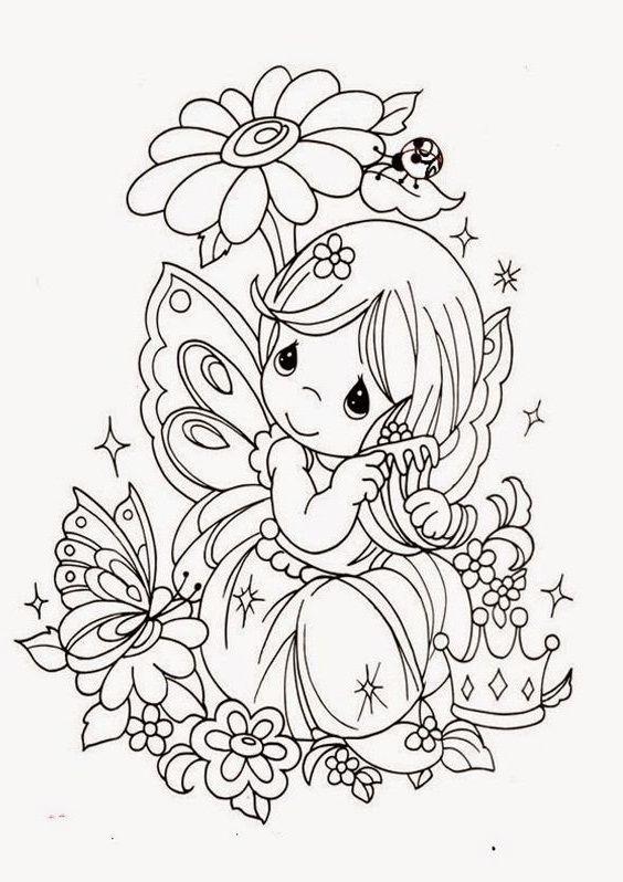 Nenas Y Nenes En Primavera Dibujos Para Colorear Bebeazul Top Precious Moments Coloring Pages Fairy Coloring Pages Fairy Coloring