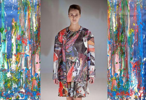 Moda autunno inverno 2013-14: tendenza colore stile quadro astratto