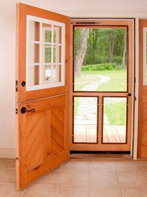 dutch door, wooden screen door