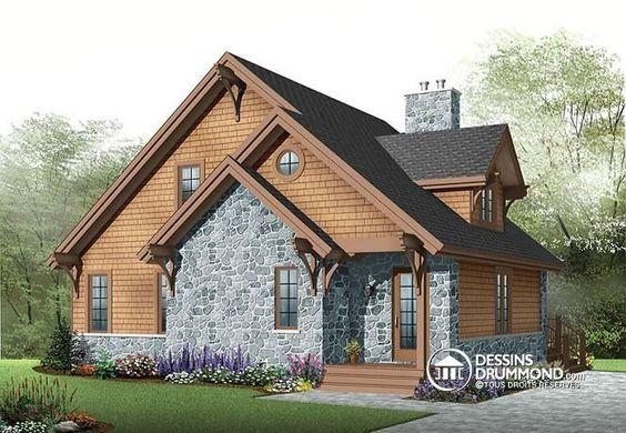 w2957 chalet style rustique 3 chambres foyer mezzanine plancher aire ouverte vestibule. Black Bedroom Furniture Sets. Home Design Ideas