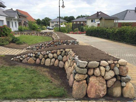 Bauen einer Trockenmauer garten Pinterest Trockenmauer - steinmauer garten kosten