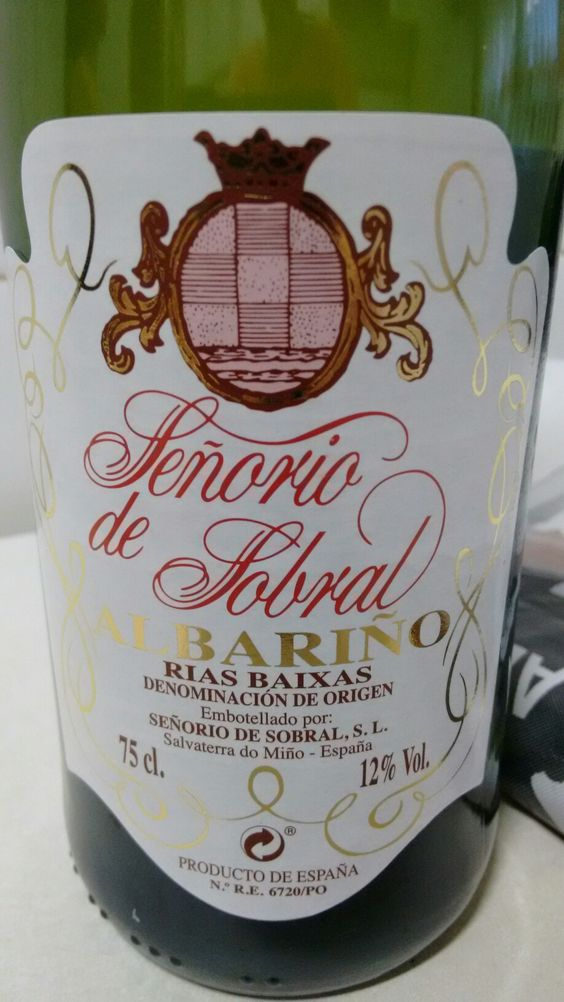 Señorio De Sobral 2015 Do Rias Baixas Bodega Señorio De Sobral Salvaterra Do Miño Pontevedra Vino Blanco Joven Sin Cria Vino Blanco Uvas Blancas Vinos