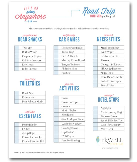 Road Trip Checklist and Aussie Road Trip Games Book - Vakantie - packing checklist template