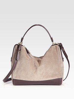 Salvatore Ferragamo Corine Velour & Leather Shoulder Bag