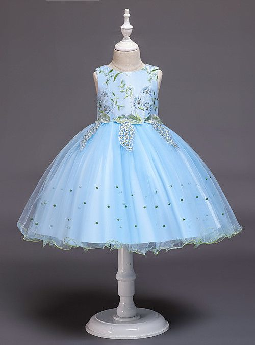 NEW Turquoise Lace Tulle Dress w// Fishing Line Flower Girl Birthday Easter #15