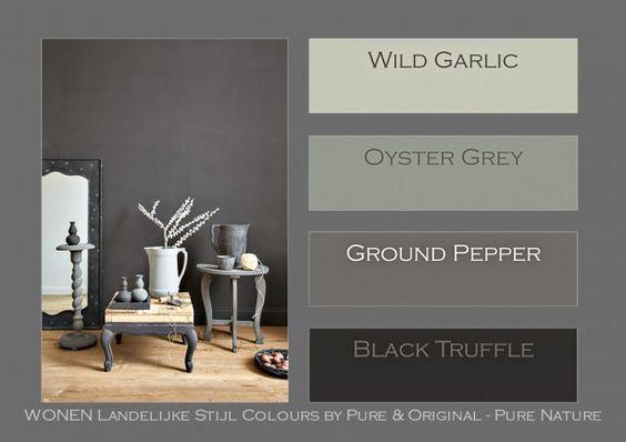Wonen landelijke stijl colours by pure original op for Landelijke kleuren verf
