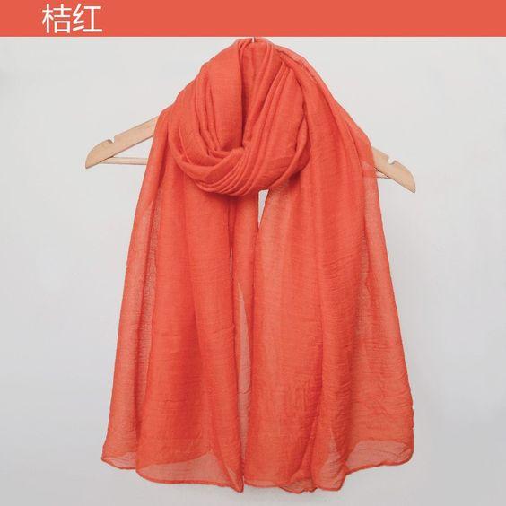 2016 Moda Inverno Cachecóis Mulheres Cachecol Hijab Algodão cobertor Cor Pura Cachecol Feminino Marca Xales E Cachecóis de Inverno em Lenços de Das mulheres Roupas & Acessórios no AliExpress.com | Alibaba Group