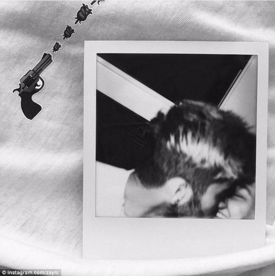 Sealed with a kiss: Zayn Malik shared a photo which showed him smooching Gigi Hadid on Ins...