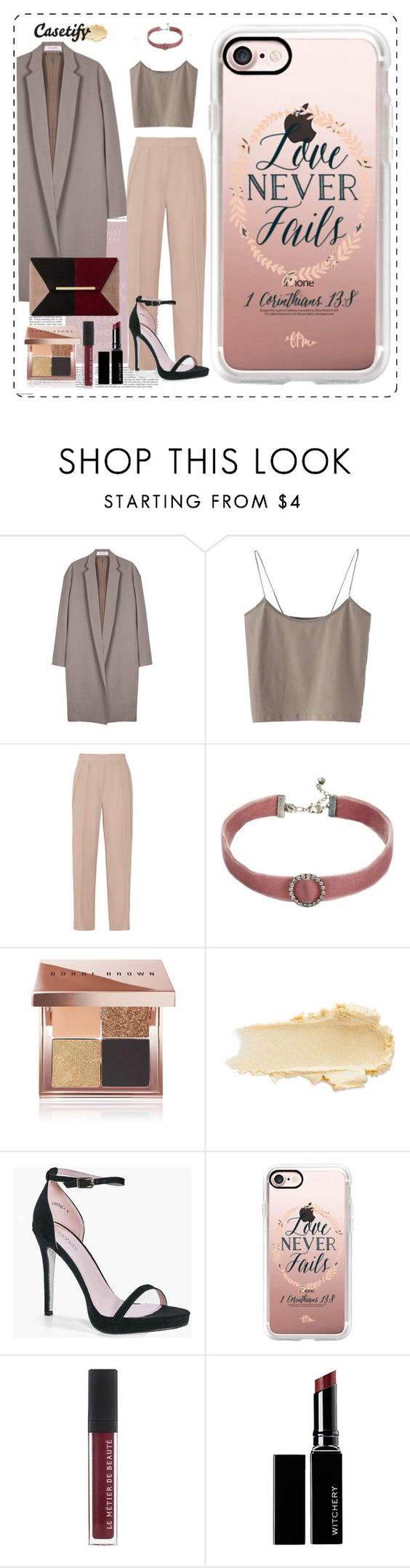 """""""Love never fails 💕"""" by casetify ❤ liked on Polyvore featuring Organic by John Patrick, By Malene Birger, DANNIJO, Bobbi Brown Cosmetics, Boohoo, Casetify, Witchery and Dune"""