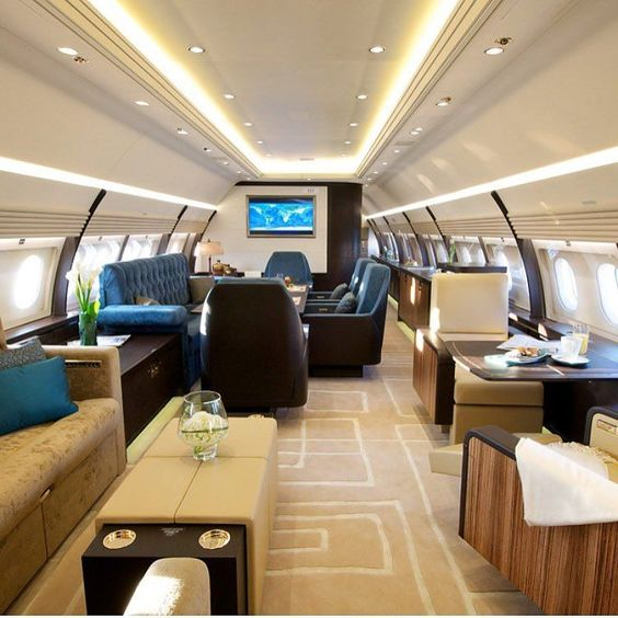 Enormous private jet interior . Follow us for more luxury photos of the day #privatejet #jetsetter #jetset #goals #vacation #business #luxury #luxurylifestyle #success #mlm #loveit #love #interior...