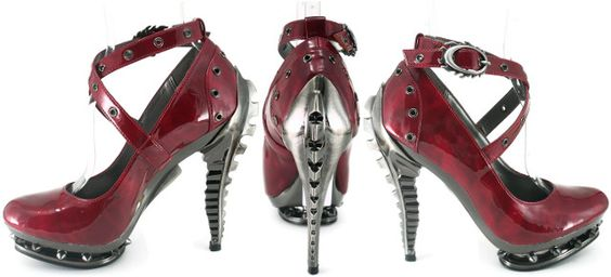 Steampunk Shoes Hades - Triton Burgundy £120 From PUNKTRASH  Secure Payment and Cheap P&P