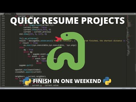 These Weekend Python Projects Look Impressive On A Resume In 2020 Data Science Learning Resume Learn Programming