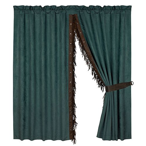 Hiend Accents Del Rio Teal 84 X 60 Inch Curtain Panel Pair With