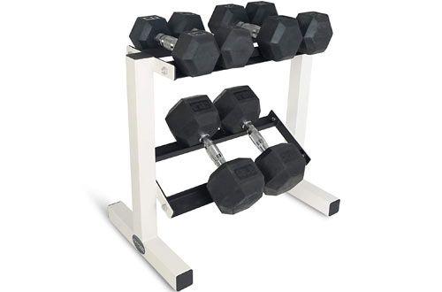 titan fitness 2 tier dumbbell rack