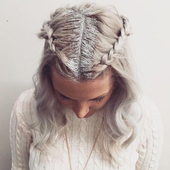 Glitter roots // Patrizia Conde | B | Pinterest:
