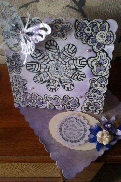 Zentangle twisted easel card