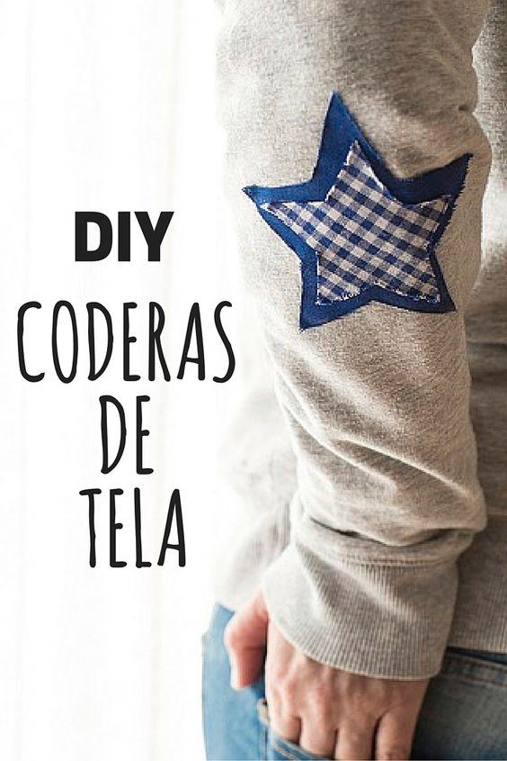 Jersey personalizado con coderas ➜  Hazte unas coderas con tela y pegamento para renovar un jersey o una sudadera :) #RopaDIY #JerseyPersonalizado #CustomizarRopa #Coderas: