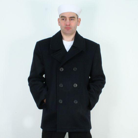 US Navy Pea Coat   Something to think about   Pinterest   Coats