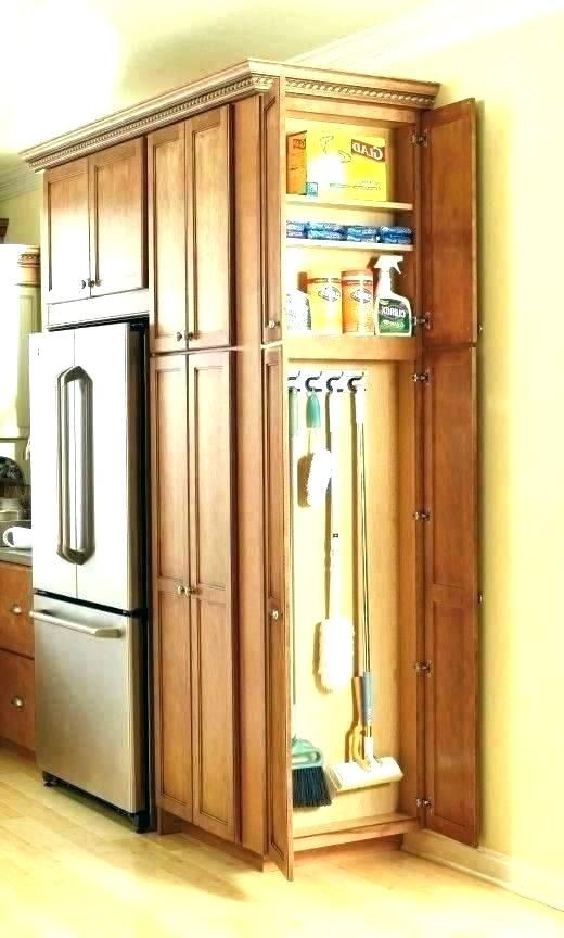 Broom Cabinet Closet Corner Organizer White Kitchen Tall B Asicss Apartment Kitchen Organization Kitchen Cabinet Design Farmhouse Kitchen Cabinets