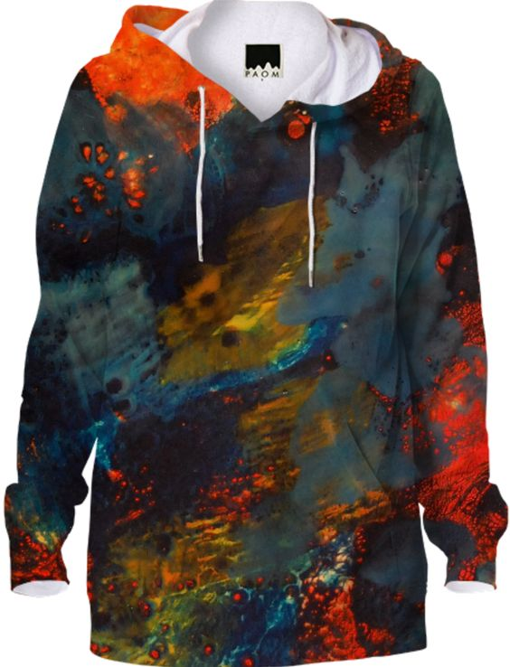Casual Hoodie, Organic Fashion Print by Elizabeth Schowachert