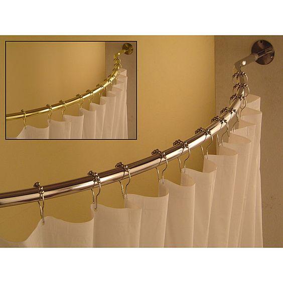 Curved 59 to 62-inch Shower Curtain Rod | Casa e Lavanderia
