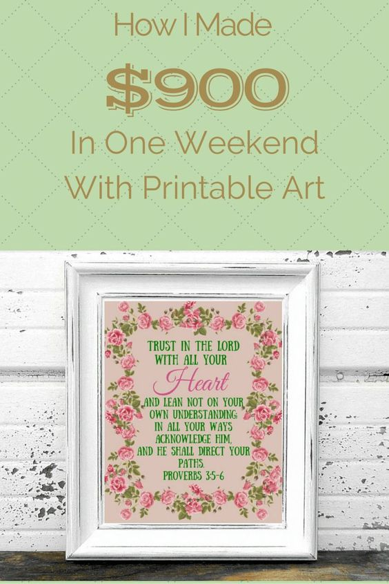 How To Make Money Selling Printable Art | THE FRAGGLE MOMMA