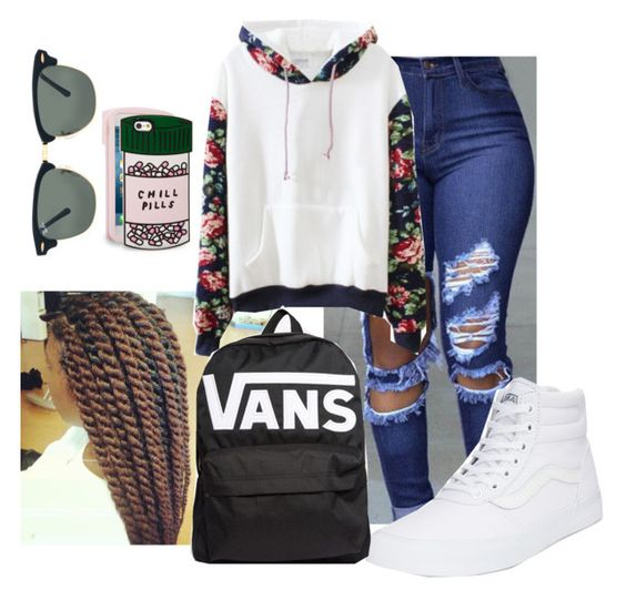 """""""Zayuuuumm Daniel"""" by bballfavmrc on Polyvore featuring Vans, Ray-Ban and ban.do"""