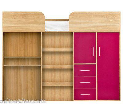 Mid Sleeper Wardrobe Storage And Cabin Beds On Pinterest